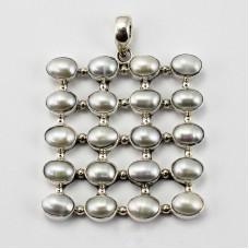 Square Silver Pendant