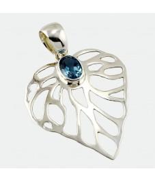 Featured Leaf Design 925 Silver Pendant